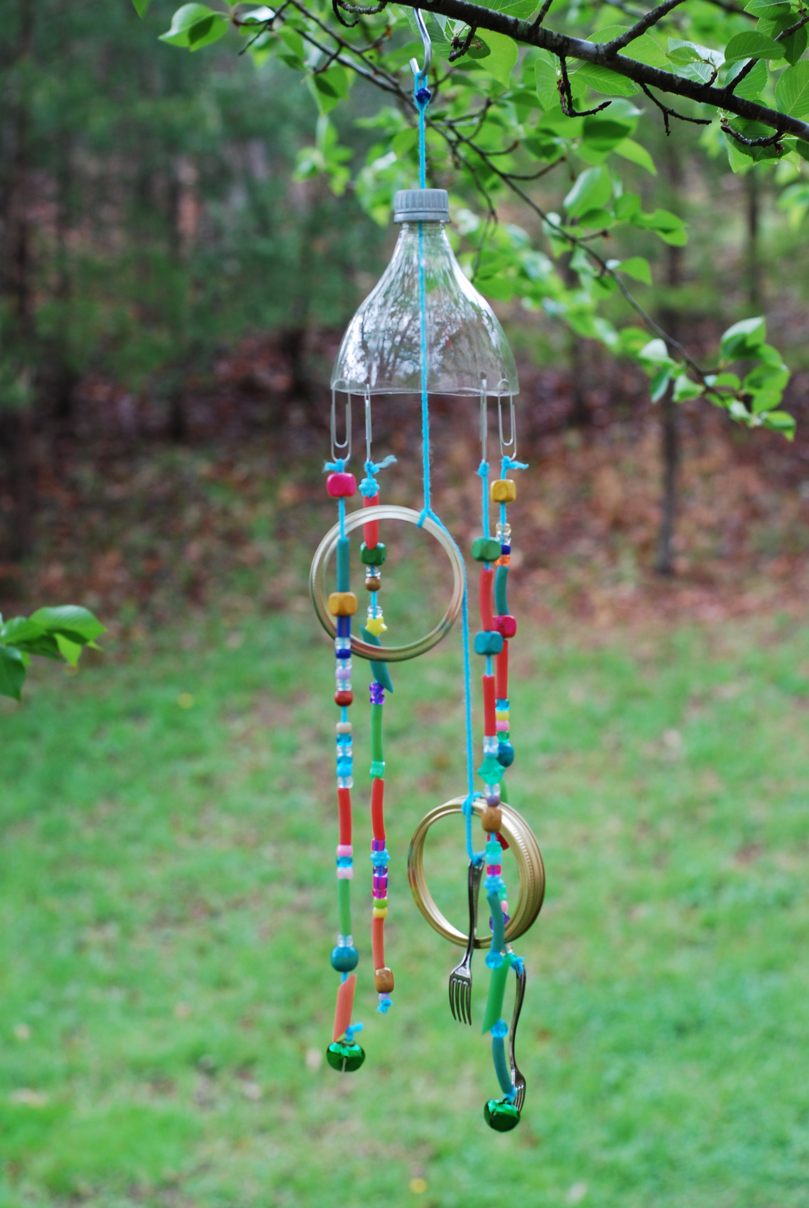Recycled wind chime clay center ed ventures for Wind chimes from recycled materials