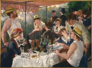 Luncheon of the Boating Party Pierre-Auguste Renoir 1880-81 Oil on Canvas (51x68in) The Phillips Collection, Washington DC